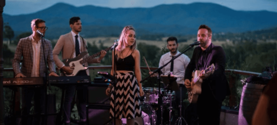 Lark rocks Riverstone for Kim and Luke's love fest